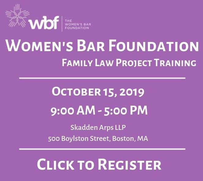 WBF Family Law Project Training, October 15, Skadden Arps